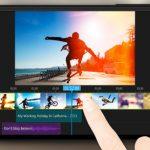 Interfaz de editor de vídeos