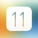 Logo apple de la nueva actualización de sistema operativo iOS 11