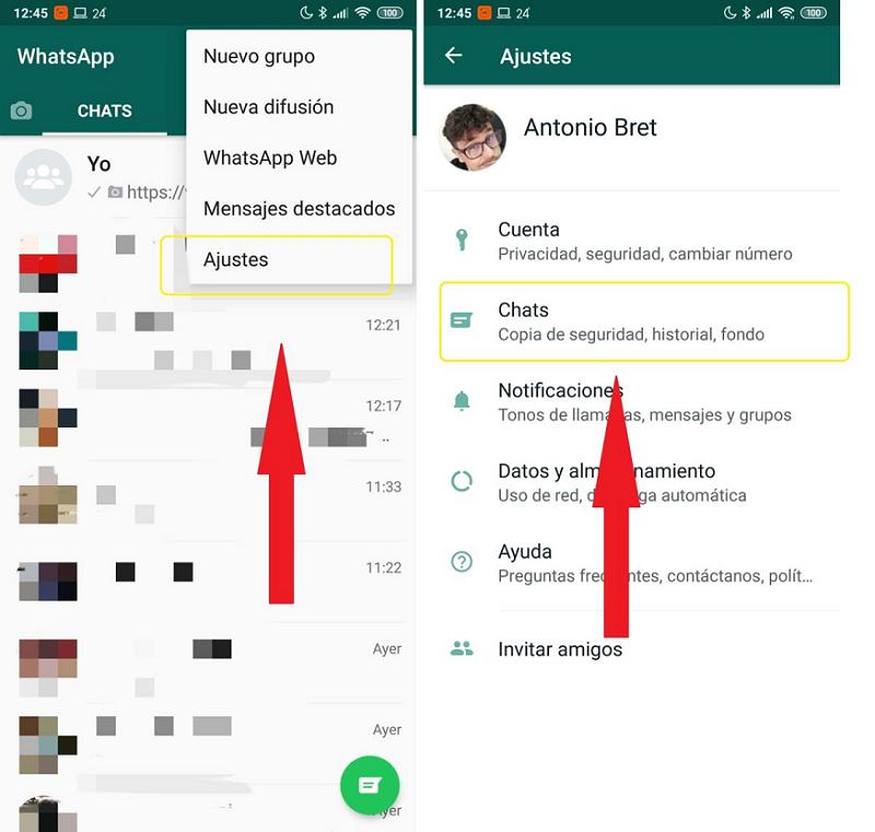 Como crear una copia de Seguridad de WhatsApp en tu móvil