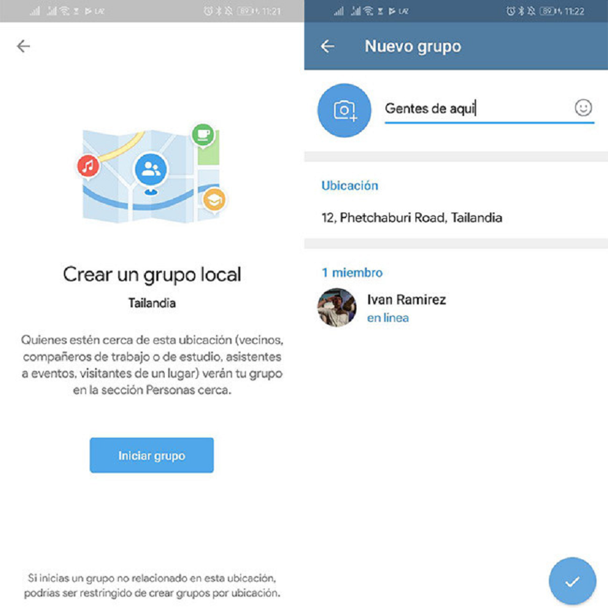 Nueva función en telegram
