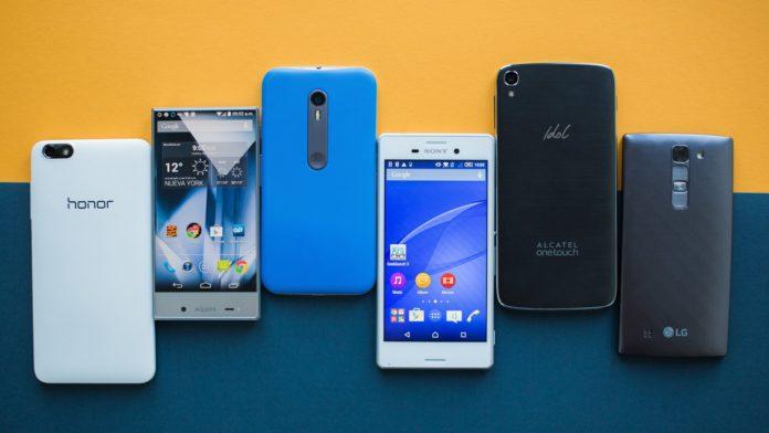 Nueve smartphones de alta y media gama