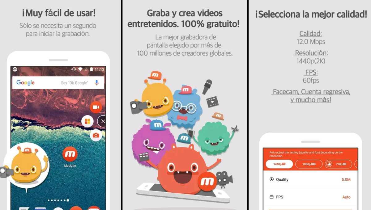 Mobizen mejor app para grabar pantallas en Android