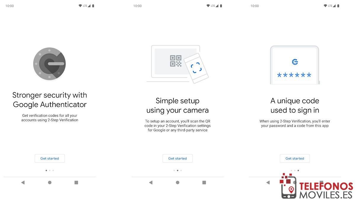 Google auntenticador en dos pasos