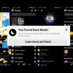 activar el modo oscuro en facebook messenger
