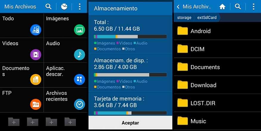 Administrador de archivos en Android